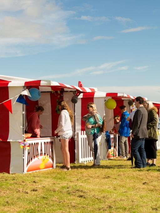 funfair stalls hire at a company fun day