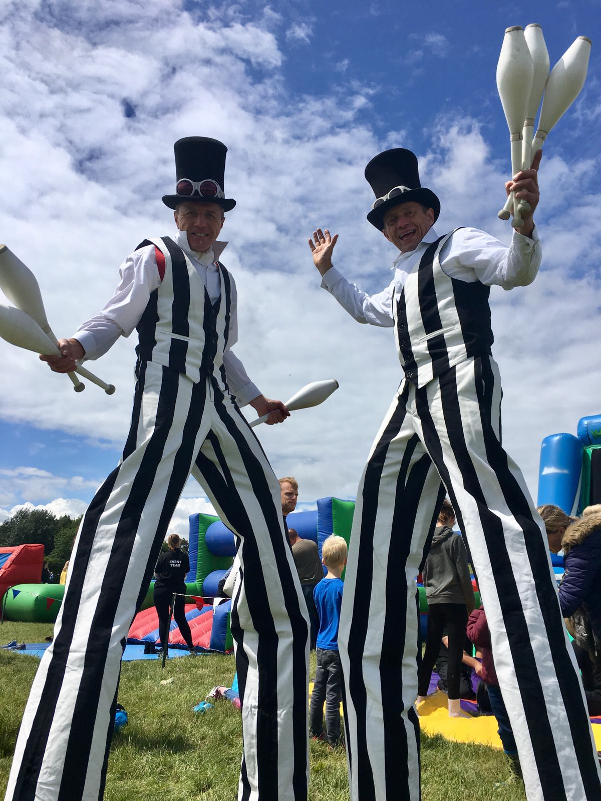 Corporate Fun Day Stilt Walkers