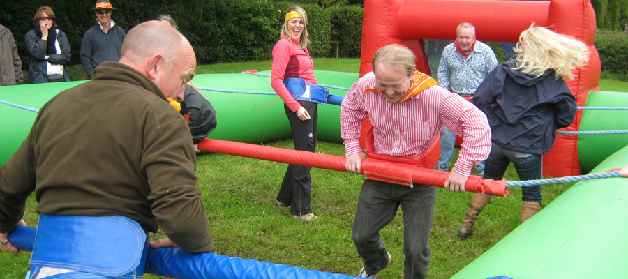 Human Table Football - Inflatables - Company Fun Days