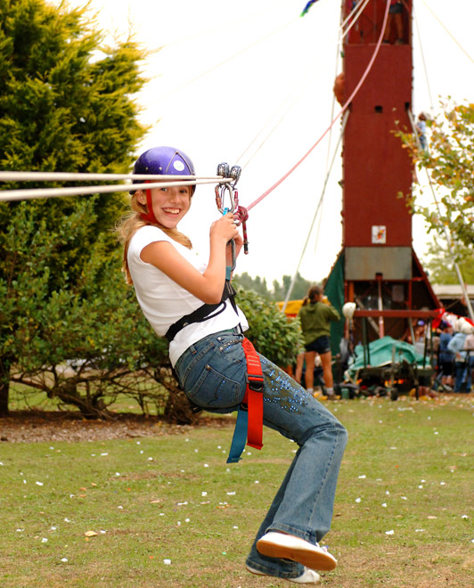 Zip Wire Climbing Wall Activity Attraction