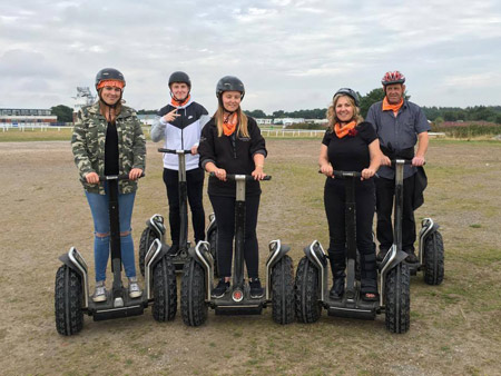 Exeter Race Course Segways with ACF Teambuilding